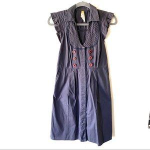 Anthropologie Maeve gray dress